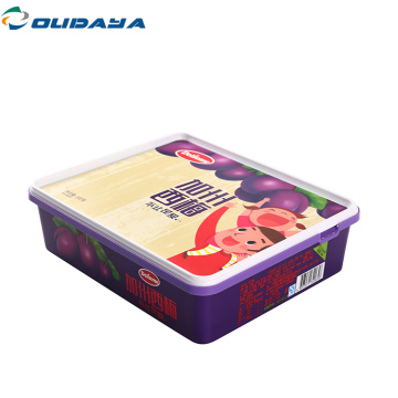 2L PP square food box storage ood container