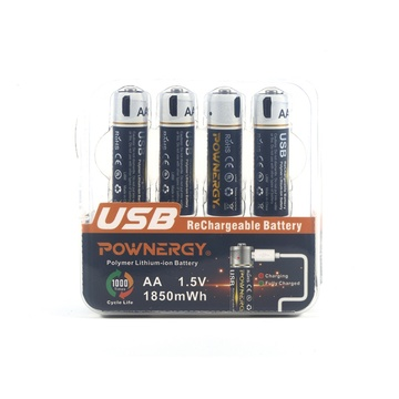 1850mWh AA Battery Pack USB