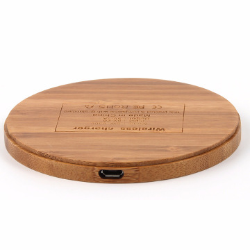Qi Wireless Charger Wood Pad Charging Pad