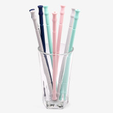 Reusable Straws With Case Keychain/Reusable Straw That Folds Up Bpa Free Portable