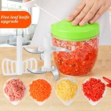 900MLManual Food Processor High Quality Safe Chopper Blender Slicer Kitchen Essential