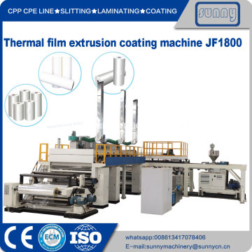 termal film extrusion coating machine model JF1800