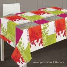 Pvc Printed fitted table covers Vinyl Tablecloth