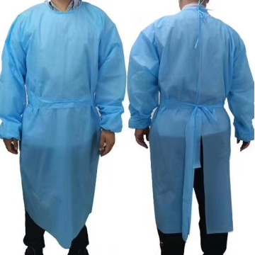 SGS level 3 CPE disposable isolation gown