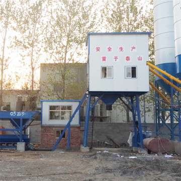 Fully automatic floating cement concrete mixing plant HZS35