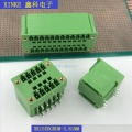 double row terminal block with fixing screws