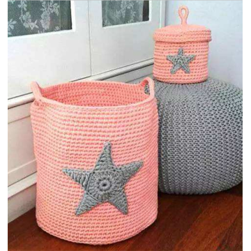Colorful Knitted Storage Box