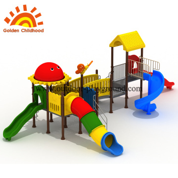 Double slide material for school playground