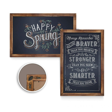 Rustic wall hanging blackboard wooden frame decoration blackboard