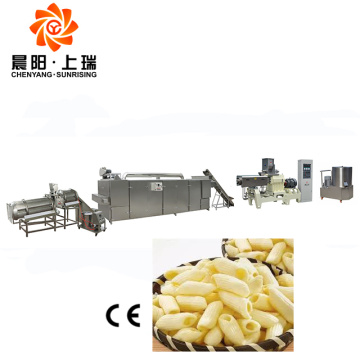 Snacks food extruder line snack pellets machine