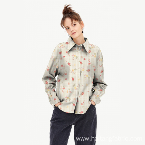 Polyester Waterproof Printed Shirt Fabric Man Shirt Fabric