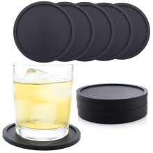 Non-slip Silicone Drinking Coaster Set Holder Cup Mat Pad Coaster Table Placemats Nonslip Coffeee Cup Mat Kitchen Accessories