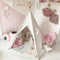 Canvas Teepee Kids Play Tent with Mat