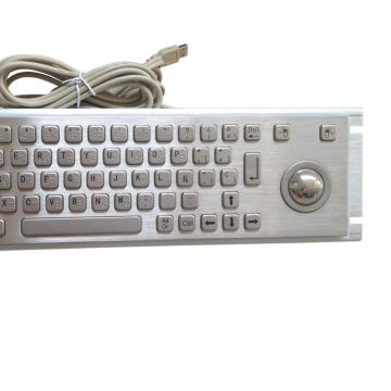 Metal Braille  Keyboard with Trackball for kiosk