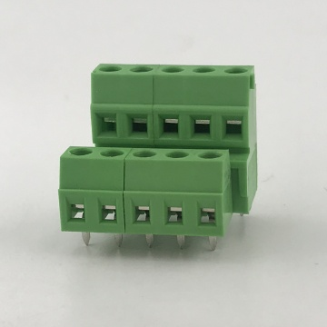 PCB high and low position two row terminals