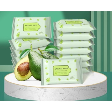New-born baby care wet tissue Fresh avocado wipes 10pcs/bag Daily care and skin clean 5 bags/lot Green safety