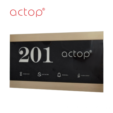 2020 New Door Plate Custom Logo Room Number Glass Matel Plastic Plate