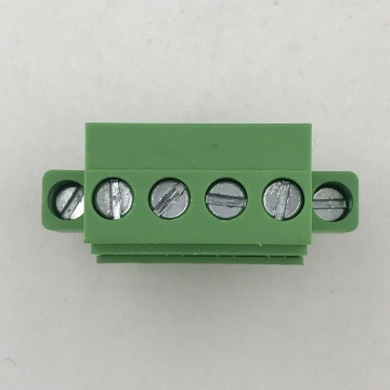 vertical pluggable terminal block with side screws