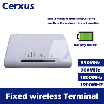 Fixed Wireless Terminal GSM 850/900/1800/1900MHz Wireless Access pstn phone Dialer DTMF with backup battery inside for security