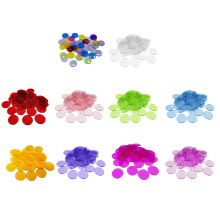 Small Plastic Learning Counters Disks Bingo Chip Counting Discs Markers for Math Practice and Poker Chips Game Tokens 100PCS