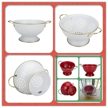 White Enamel Colander Homeware