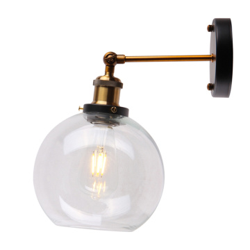 Hotel reading industrial glass wall sconce lamp