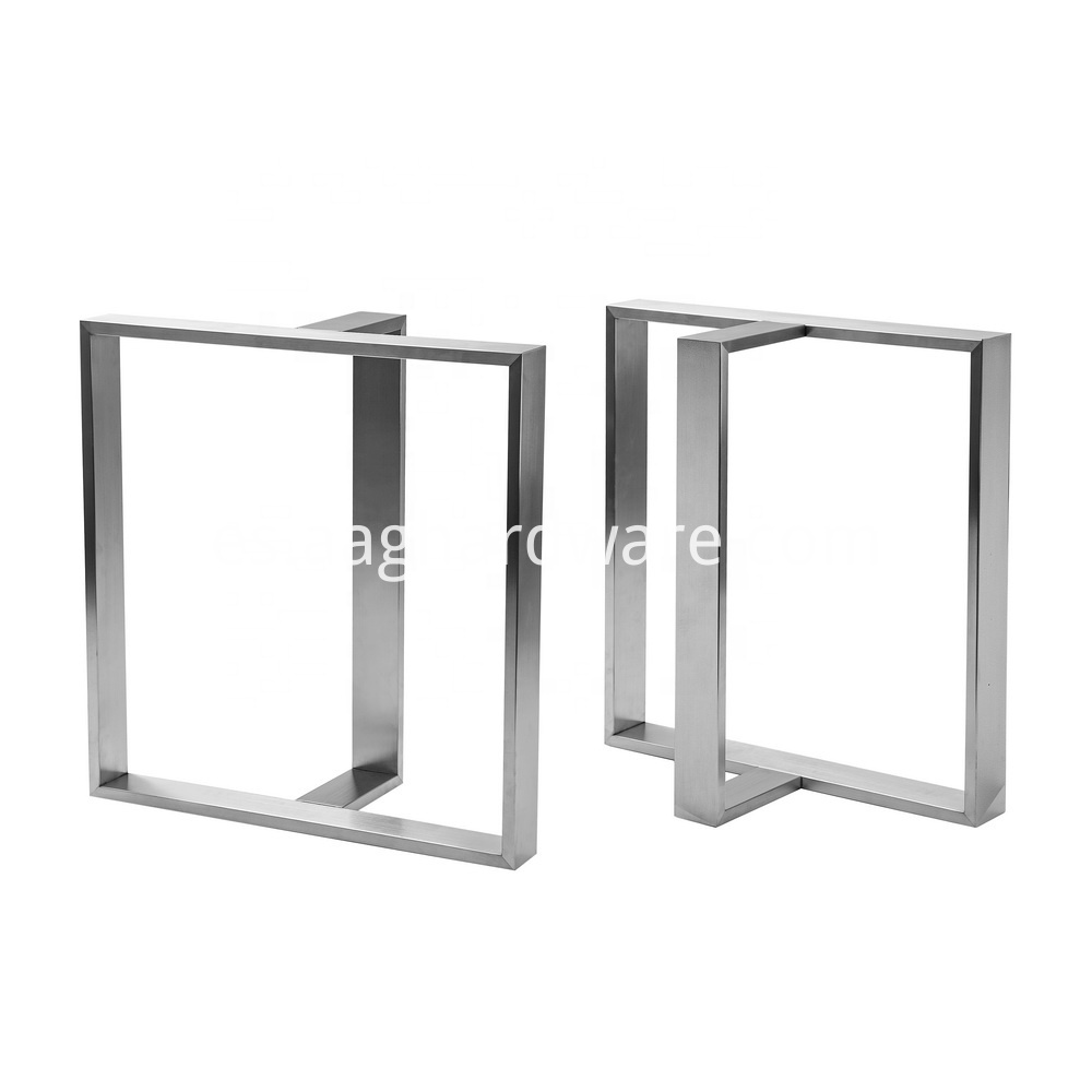 Stainless Steel Table Legs Modern T Shaped