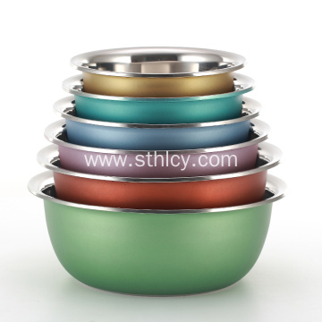 Colorful Coated Stainless Steel Mixing Bowl Set