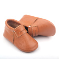 Colorful Cow Leather Soft Sole Baby Moccasin Shoes