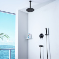 HIDEEP Hot Cold Black Bathroom Shower Faucet Set