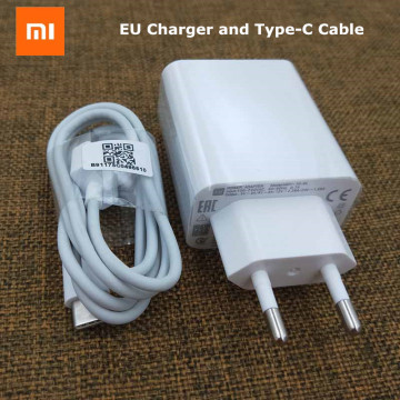 Xiaomi Fast Charger High Speed Turbo Charger EU Adapter USB Type c Cable For Mi 9 9se 9t 8 cc9 a3 Redmi K30 note 7 8 pro K20 Pro
