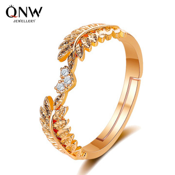 5pcs Korean version of the new small fresh sweet opening leaf ring female light luxury olive branch ring ring tail ring