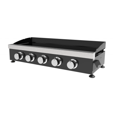 Five Burner Cold-Rolled Steel Gas Plancha