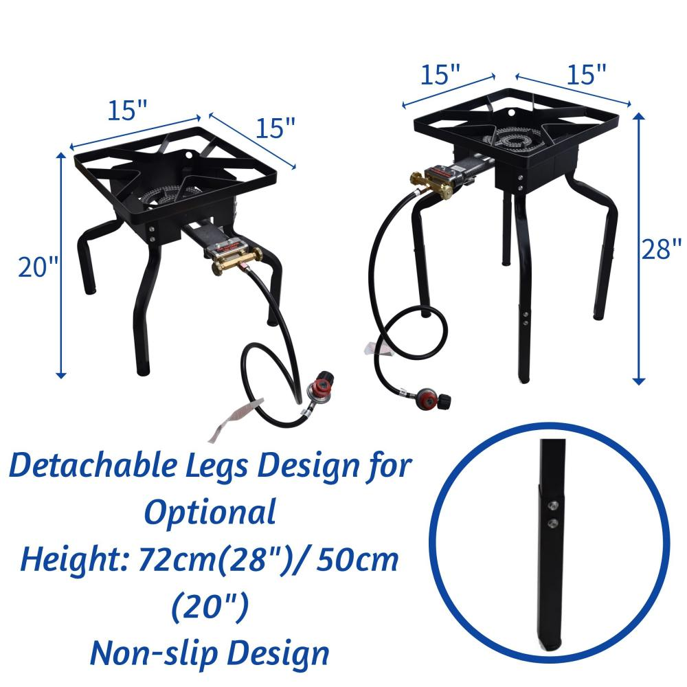 Adjustable Height Stove