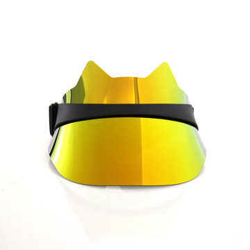 Light gold children outdoor visor hat