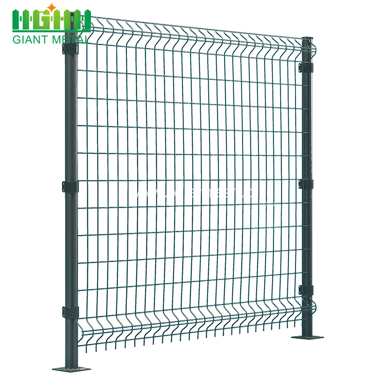 PVC Coated Metal 3D Curvy Fence