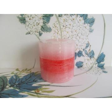 Elegant Design Dripless Decorative Layered Pillar Candle