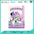 DISNEY MINNIE MOUSE A5 rainbow glitter notebook