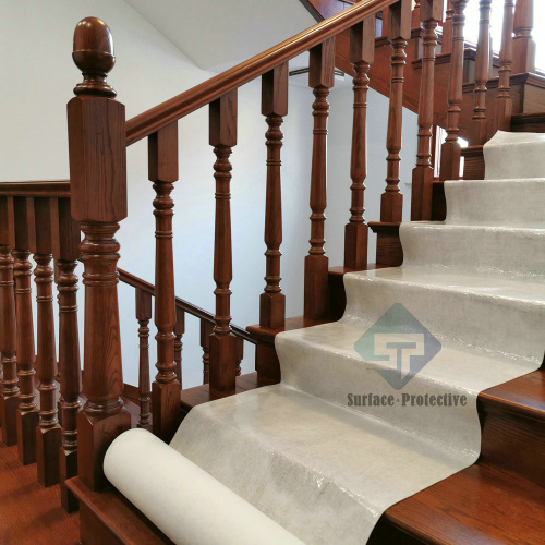 Temporary Hardwood Stair Tread Carpet Protection