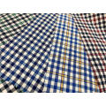 T/C Oxford Woven Yarn-dyed  Bleached Plaid Fabric