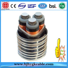 8.7-15kv Aluminum Alloy Conductor XLPE Insulated PVC Sheathed Steel Wire Armoured Power Cable