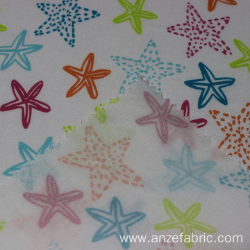 Custom printed poplin fabric cotton rayon fabric