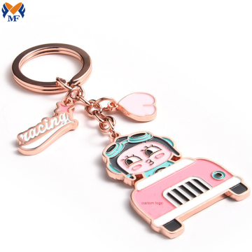 Metal Rose Gold Keychain For Promotion
