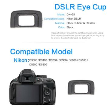 2X Viewfinder Eyepiece Eyecup For Nikon D5100 D5200 D300 D3000 Replace DK-25