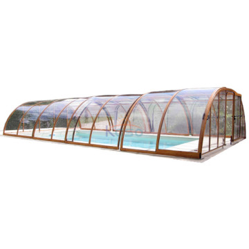 Telescopic Part Swimming Pool Enclosure Shade