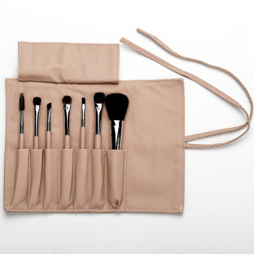 complexion pu bag with 7 makeup brushes