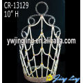 "10"" Wholesale rhinestone crowns and tiaras for pageant"