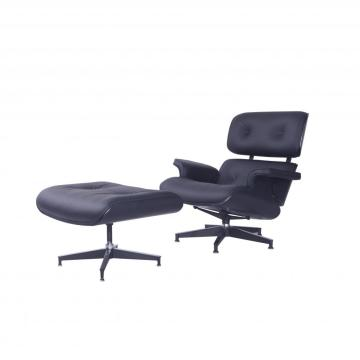 Iconic Anilien Leather Charles Eames Lounge Chairs