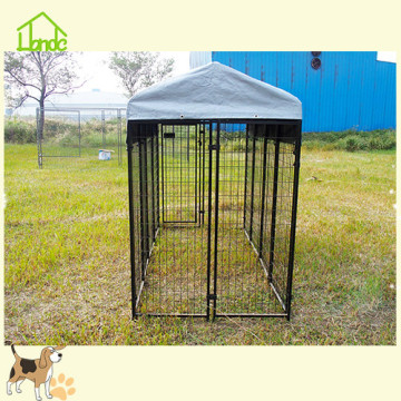 Heavy duty welded mesh dog cage with lock