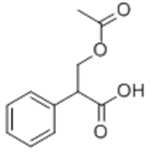 Benzeneacetic acid, a-[(acetyloxy)methyl]- CAS 14510-36-2